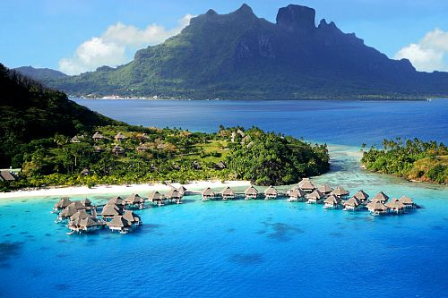 Over water bungalows - Hilton Moorea - Best Places to See in French Polynesia -Society Islands Travel Guide - Society Island Places to Visit