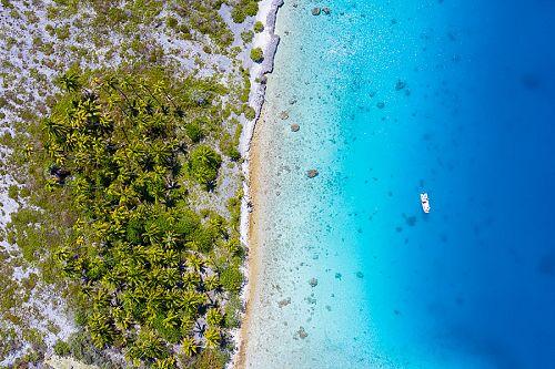 Aerial View of Fakarava Island