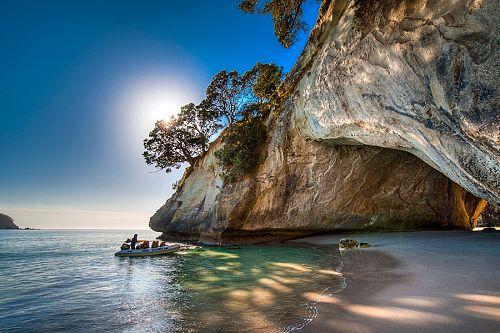 Sea Kayaking in the Coromandel Peninsula - Cathedral Cove, New Zealand