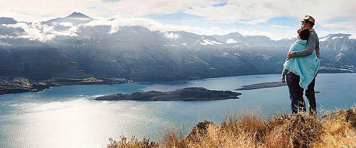 Looking Over Lake Wakatipu in Queenstown, New Zealand