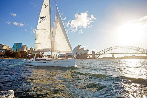 Sailing on Sydney Harbour in Australia