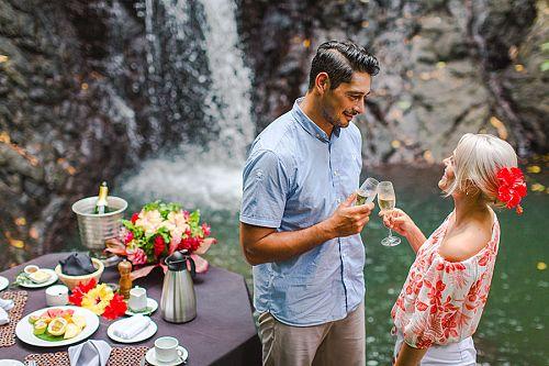 Fiji Honeymoon - Waterfall Dining at Namale Resort