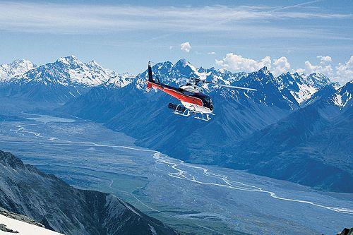 New Zealand Romantic Luxury Vacation - Queenstown Helicopter Over Mt Cook