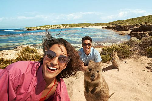 Best Australia Travel Packages - Quokka Selfie on Rottnest Island