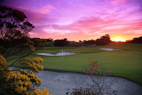 Sunset at Royal Melbourne Golf Club