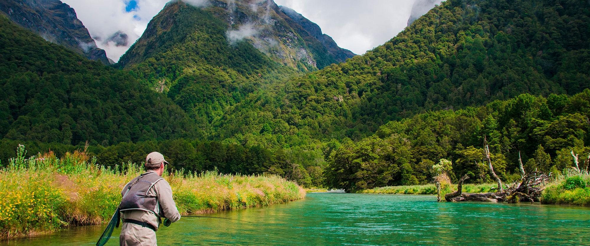 Custom-Built Australia and New Zealand Fishing Vacation - Trout Fishing in Fiordland National Park, New Zealand