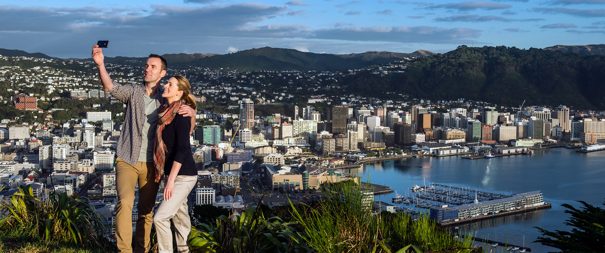 Australia and NZ trip - selfie in Wellington