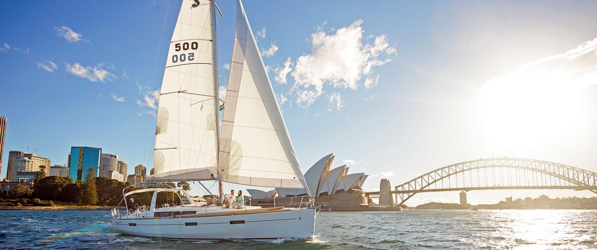 Sailing on Sydney Harbour in Australia