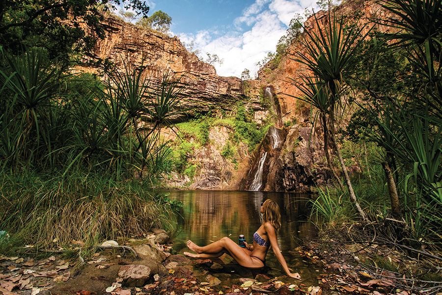 Waterfalls and swimming holes in Litchfield National Park are the perfect place to cool off.