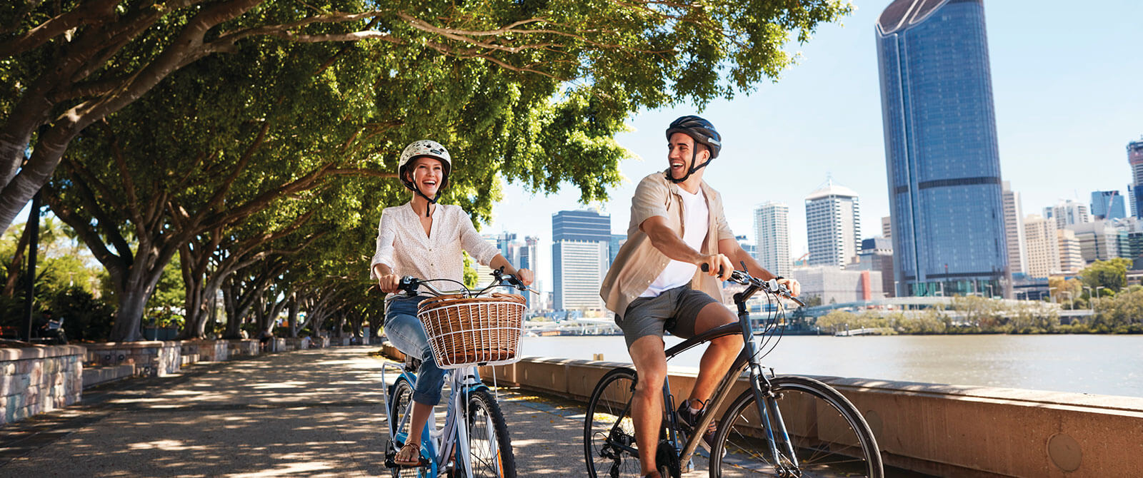 Cycling the South Bank Parklands in Brisbane - Australian Honeymoon - Brisbane and Great Barrier Reef