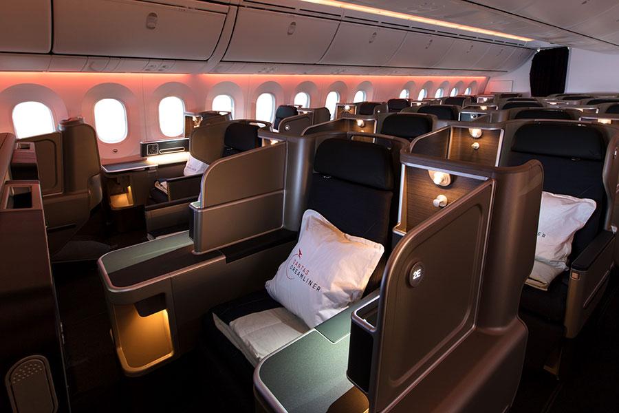 Qantas Business Class Cabin - Book Your Trip to Australia